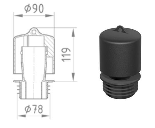 Basika bell trap DN70